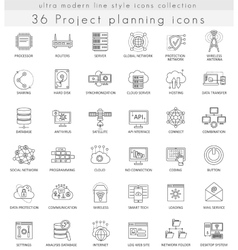 Project planning strategy ultra modern vector image vector image