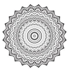 Round mandala kaleidoscopic lace ornamental vector
