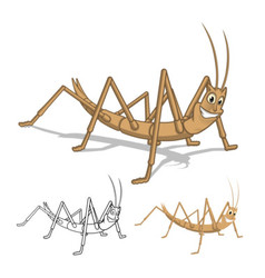 Stick Insect Cartoon Character vector image vector image