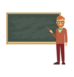teacher professor standing in front of blank vector image