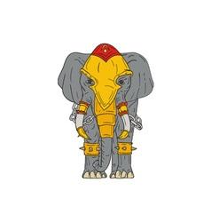 War elephant drawing vector
