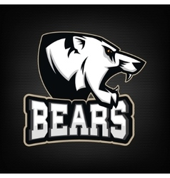 White Bear Sports team mascot vector image