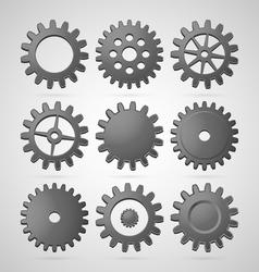 Steel cogwheels vector image