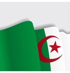 Algerian waving Flag vector image