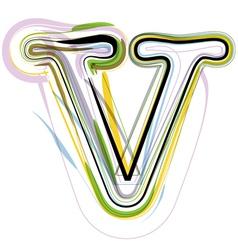 Organic Font letter v vector image