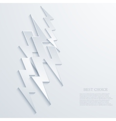 Modern lightning background vector