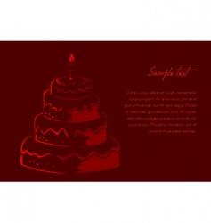 abstract birthday card vector image