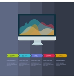 Time line infographic business with diagrams vector