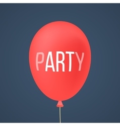 Red ballon with white lettering party vector