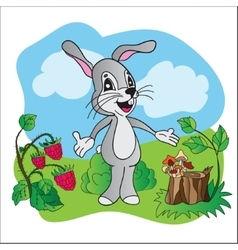Cartoon cute hare vector