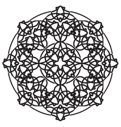 Black ornamental mandala vector