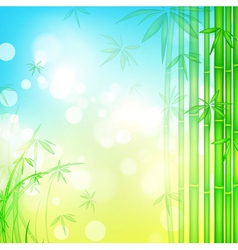 Green bamboo forest vector