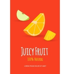 Juicy fruits poster vector