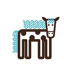 Horse icon farm animal vector
