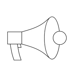 Megaphone loudspeaker icon outline style vector
