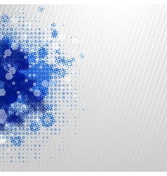 Blue Blobs With Grey Background vector image