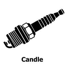 Candle icon simple black style vector