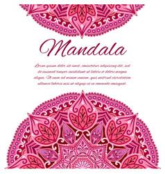 Card with mandala wedding circle element vector