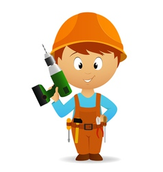 Cartoon handyman vector