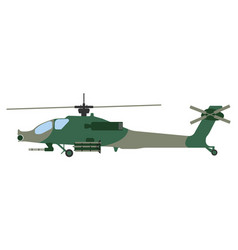 cartoon helicopter military equipment icon vector image vector image