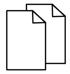 Copy cut documents files sheet icon vector