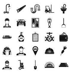 Drudgery icons set simple style vector