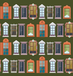elegant exterior elements seamless pattern vector image