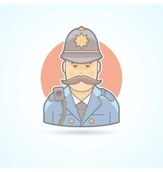 English policeman british bobby icon vector image