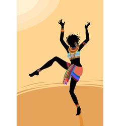 Ethnic dance african woman vector image vector image