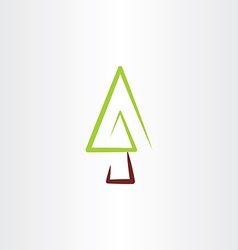 fir tree christmas icon design vector image vector image