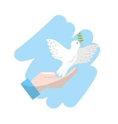 Global peace in worldwide to harmony spirit vector