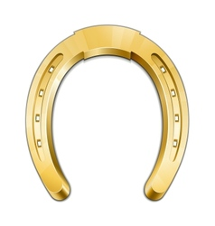 Golden horseshoe vector