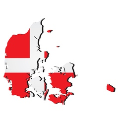 High detailed map - denmark vector