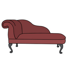 historical red sofa vector image vector image