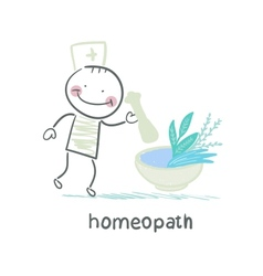 Homeopath medicine prepared from plants vector