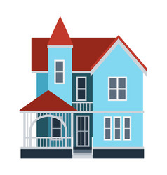 house front view building vector image