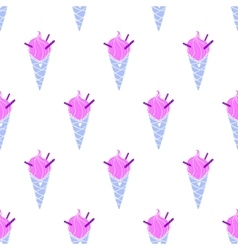Ice-cream pattern colored-19 vector