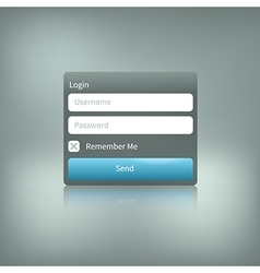 Isolated login element with reflection vector