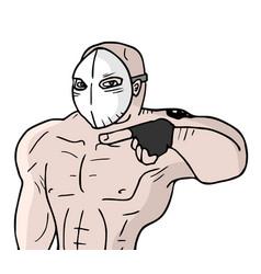 mask man vector image