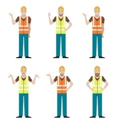 Set of builders vector image vector image