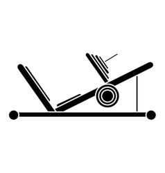 silhouette press legs sport machine gym design vector image
