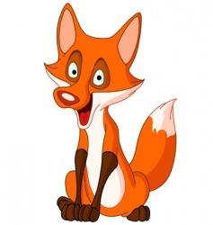 talking fox vector image vector image