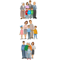 three familly set vector image vector image