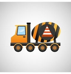 truck mixer concrete warning icon graphic vector image
