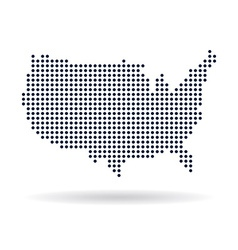 USA dot map Concept for networking technology and vector image