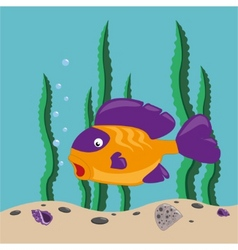 Yellow fish vector