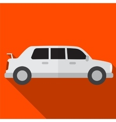 Limo flat icon vector