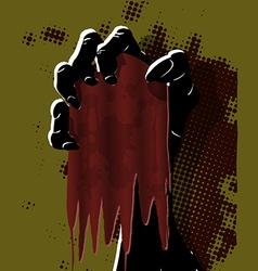 Black Hand vector image