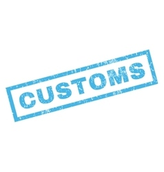 Customs rubber stamp vector