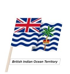 British indian ocean territory ribbon waving flag vector
